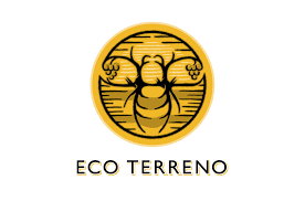Eco terreno logo wine winery country rising