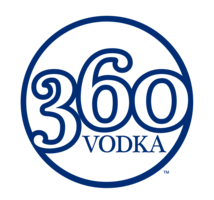 360 vodka logo blue