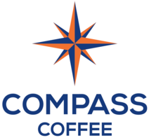 Compass coffee logo  silent auction