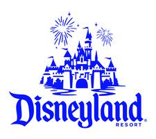 Disneyland resort logo withcenterstackedcastle fireworks   blue