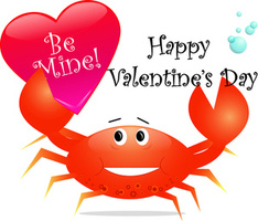 Cartoon crab with a valentines day heart 0515 1011 2415 4957 smu