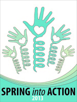 Spring into action hands logo 2013 outlines