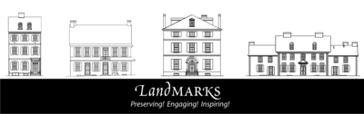 Landmarks logo b w