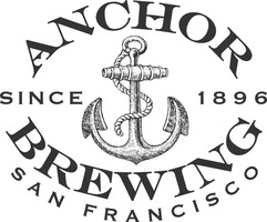 Anchor brewing blue oval logo detailed anchor