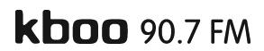 Kboo logo black abbreviated print