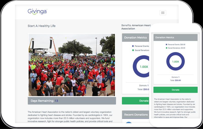 Givinga Campaign Page