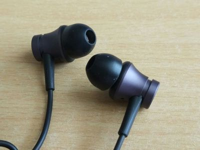 Xiaomi Piston Fresh Edition Earphone Wired Control Headphone with Mic - Black