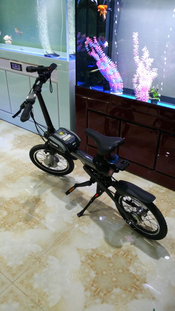 Original Xiaomi Mijia QICYCLE EF1 Smart Bicycle Foldable Bike Torque Sensor Moped Alloy Alloy Frame Lightweight - Preto
