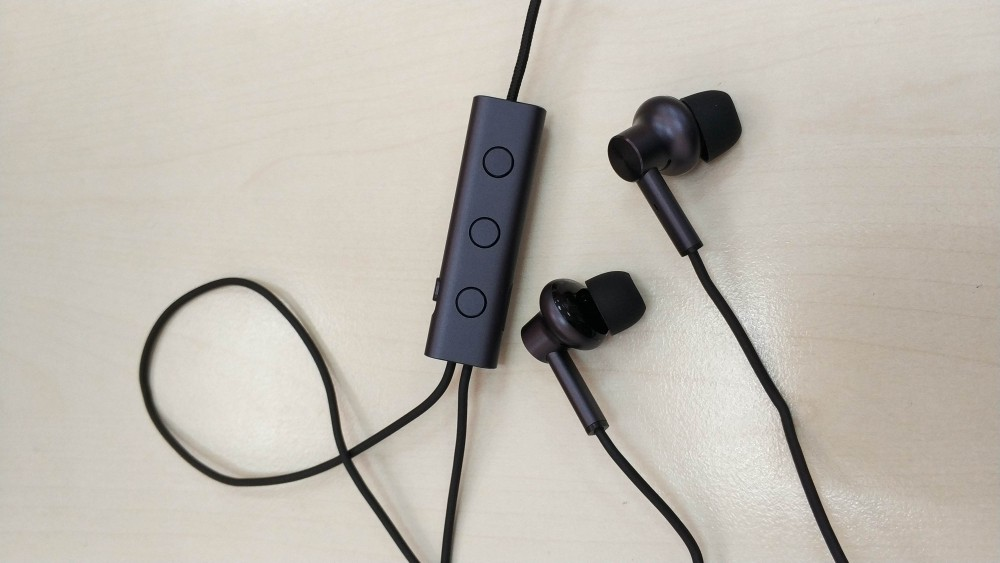 Original Xiaomi 3.5mm Active Noise Cancelling ANC Earphones with Mic - Black