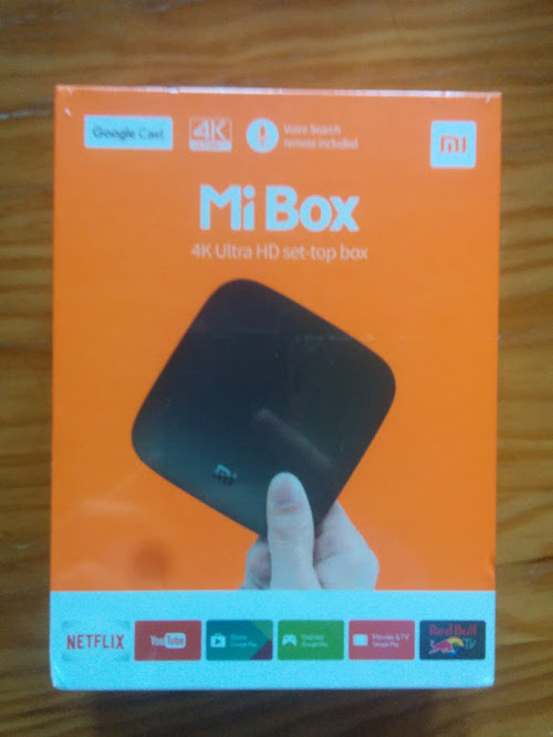 [HK Stock] XIAOMI 4K Mi Box Android TV 8.0 Oreo Set-top Box Netflix 4K يتدفق H.265 VP9 HDR الفيديو Dolby DTS Certified [Official International Version]