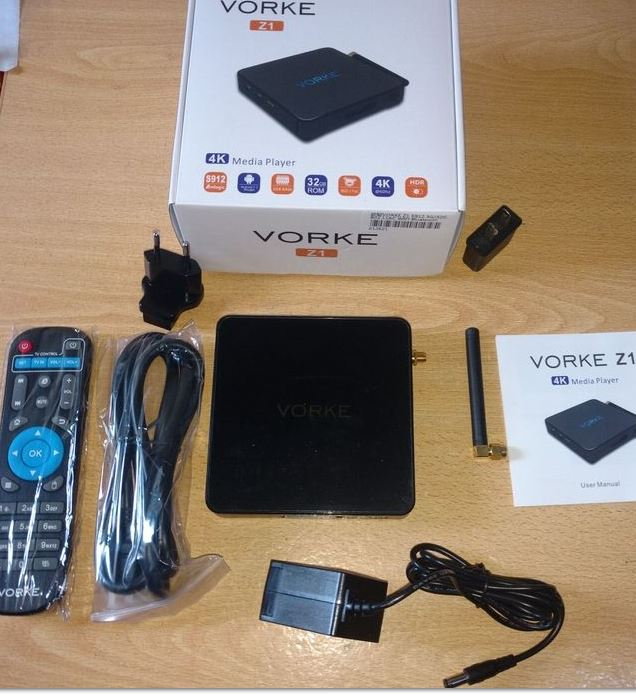 VORKE Z1 Android 7.1 KODI 17.0  3GB DDR4/32GB eMMC S912 4K 60FPS HDR VP9 Smart TV BOX  802.11AC WIFI Gigabit LAN Dolby HDMI CEC DLNA Bluetooth OTA