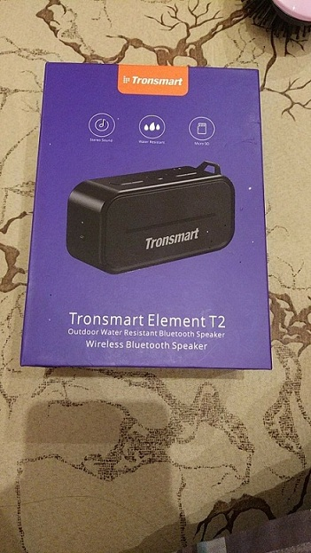 Tronsmart Element T2 Bluetooth 4.2 Outdoor Water Resistant Speaker - Black