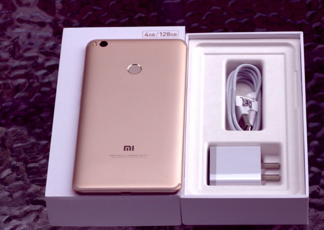 [HK Stock][Official Global ROM]Xiaomi Mi Max 2 6.44 Inch Smartphone FHD 4GB 128GB Snapdragon 625 Octa Core 12.0MP Cam Android 7.1 5300mAh Metal Body QC3.0 IR Remote Control - Gold