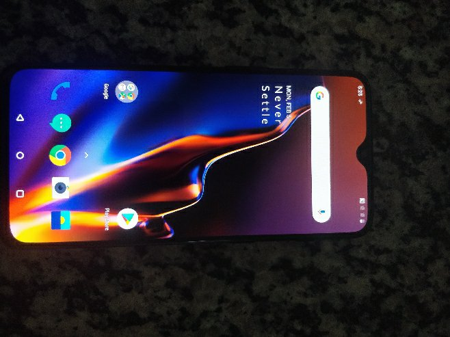 Oneplus 6T 6.41 Inch 4G LTE Smartphone Snapdragon 845 6GB 128GB 16.0MP+20.0MP Dual Rear Cameras Android 9.0 In-Display Fingerprint NFC Fast Charge Global ROM - Mirror Black