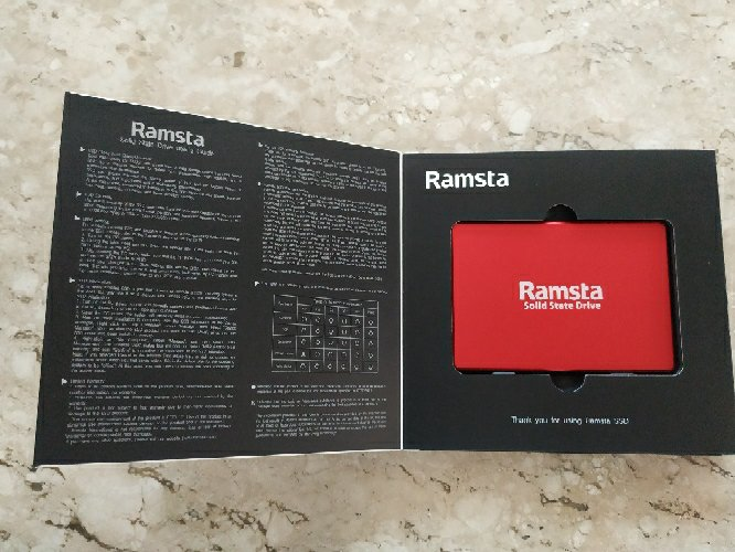 Ramsta S800 480GB SATA3 High Speed SSD 2.5 Inch Solid State Drive Hard Disk Sequential Read 562MB/s - Red