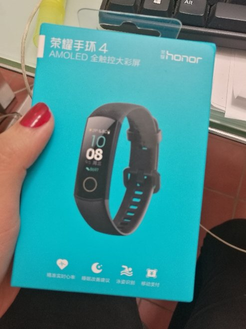 HUAWEI Honor Band 4 Smart Bracelet 0.95 Inch AMOLED Touch Large Color Screen 5ATM Heart Rate Monitor Swimming Posture Recognition - Black