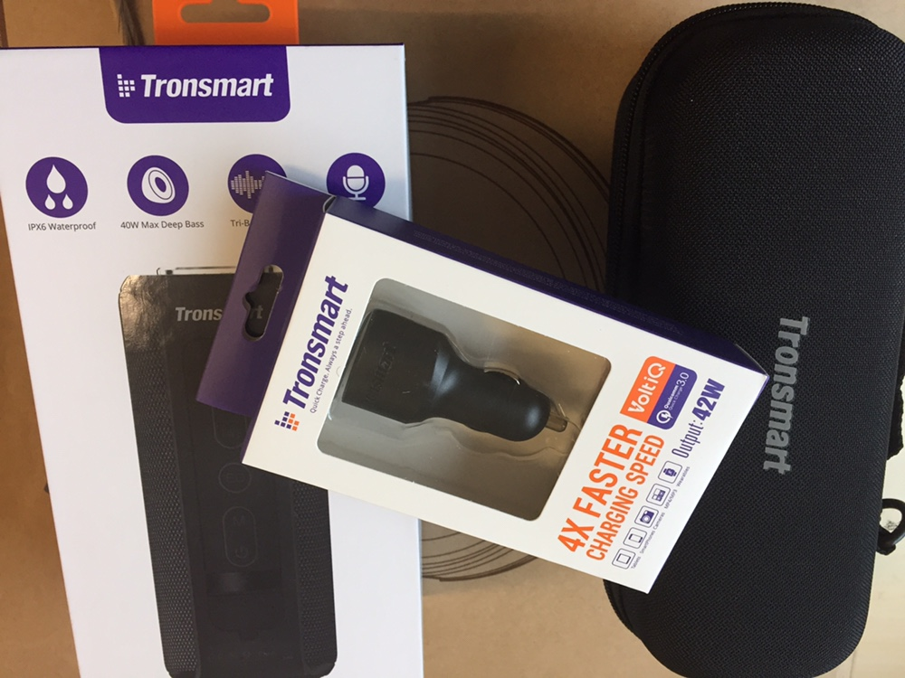 Tronsmart Element T6 Plus 40W Speaker + 3 Ports Car Charger + 64GB TF Card