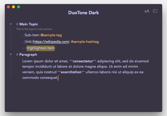 DuoTone Dark