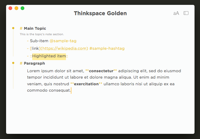 Thinkspace Golden