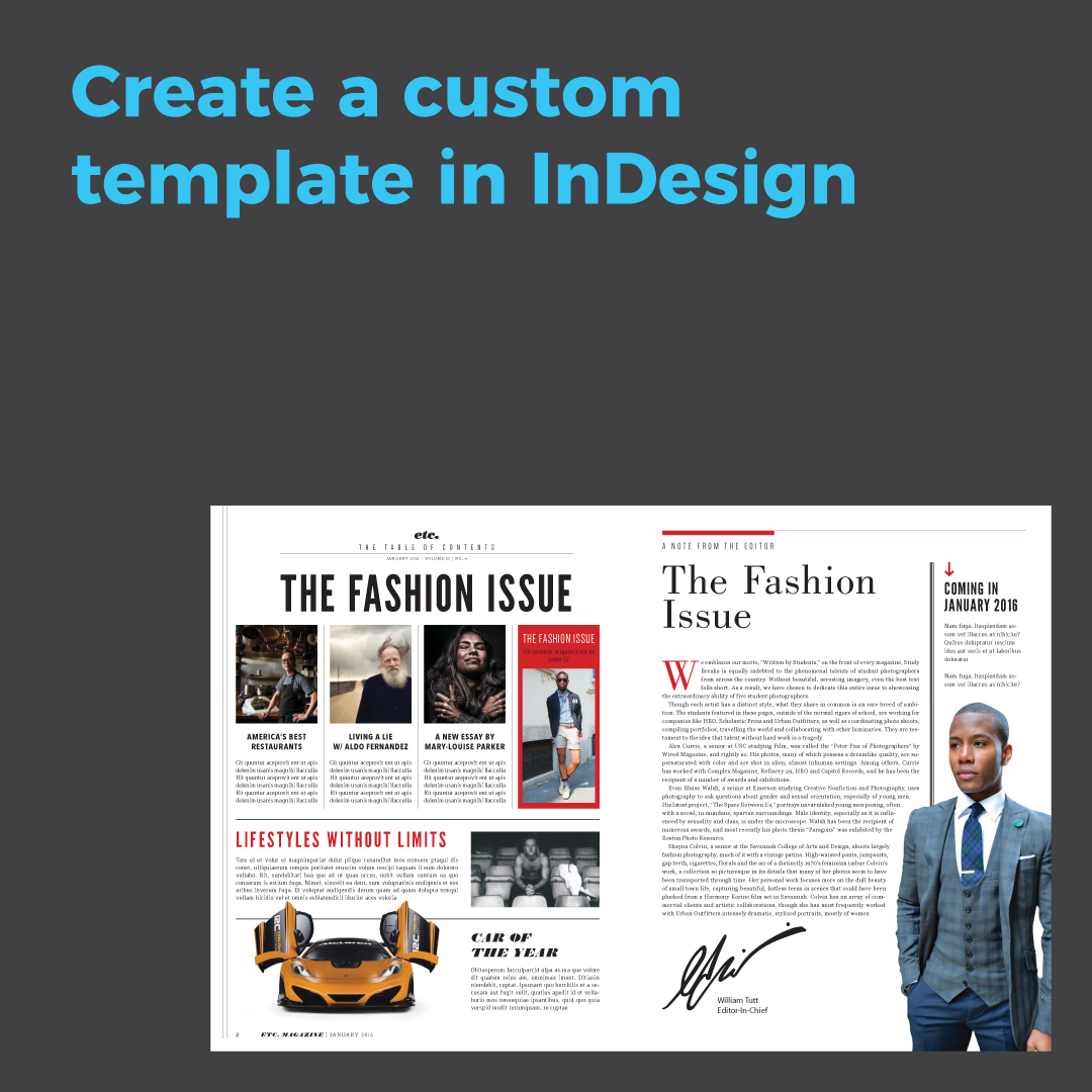 Create a Custom Template in InDesign