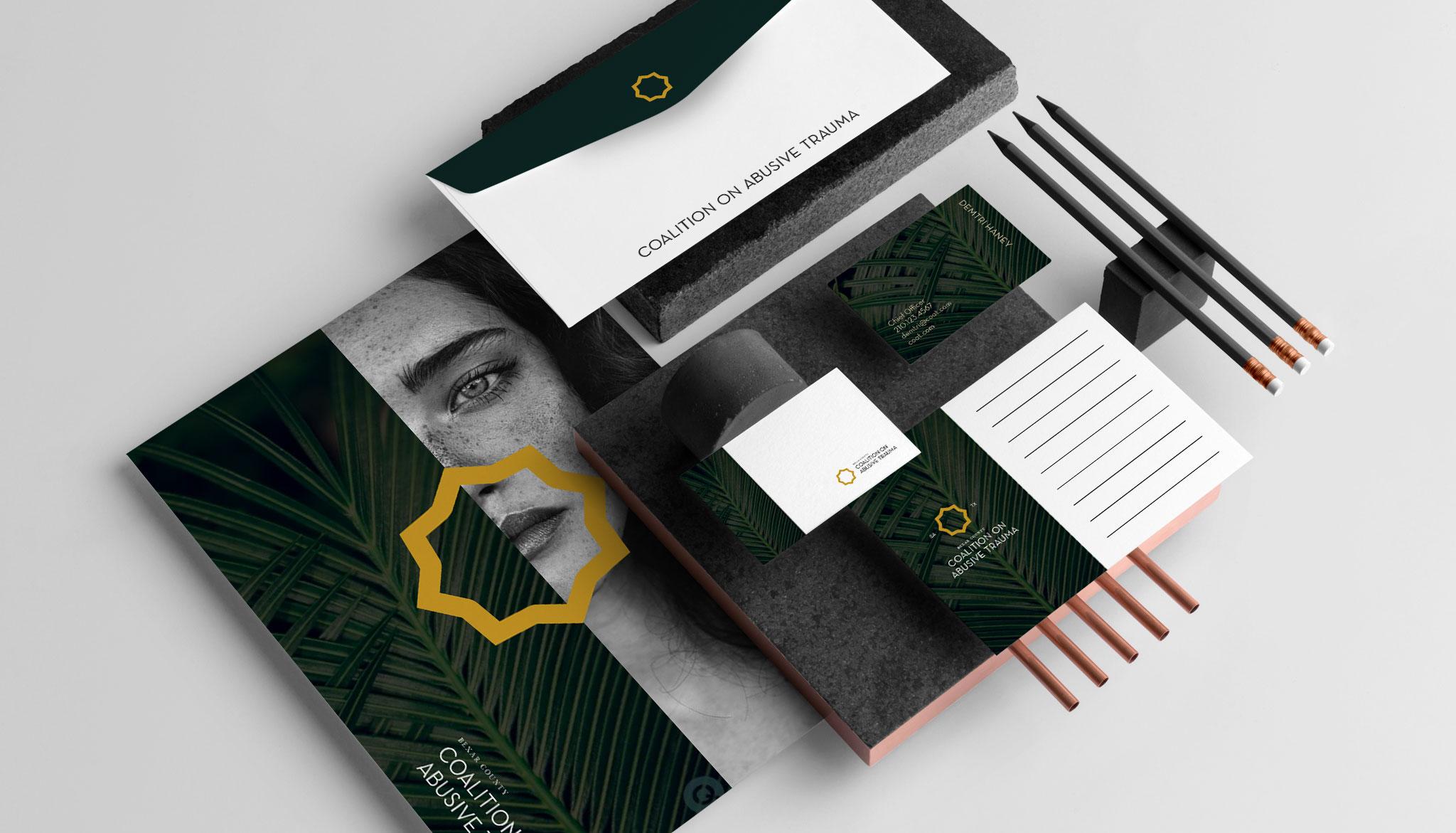 Coalition on Abusive Trauma brand design layout by GlassBeard Media in San Antonio, Texas