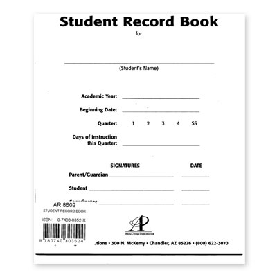 LIFEPAC® Student Record Book
