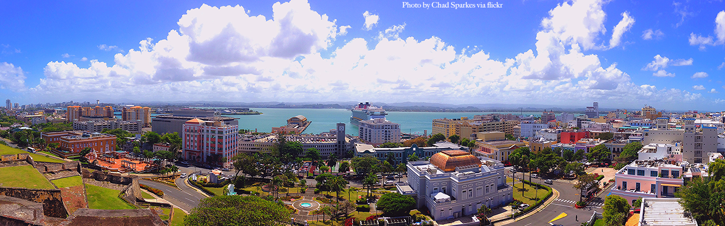 Panoramic photo of Old San Juan by Chad Sparkes