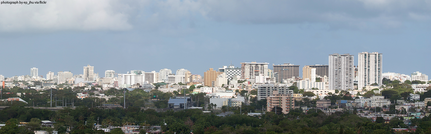 Panoramic photo of Santurce, in San Juan Puerto Rico