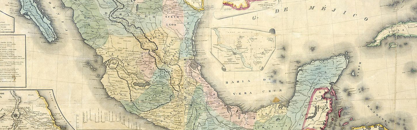 map of Mexico from 1847