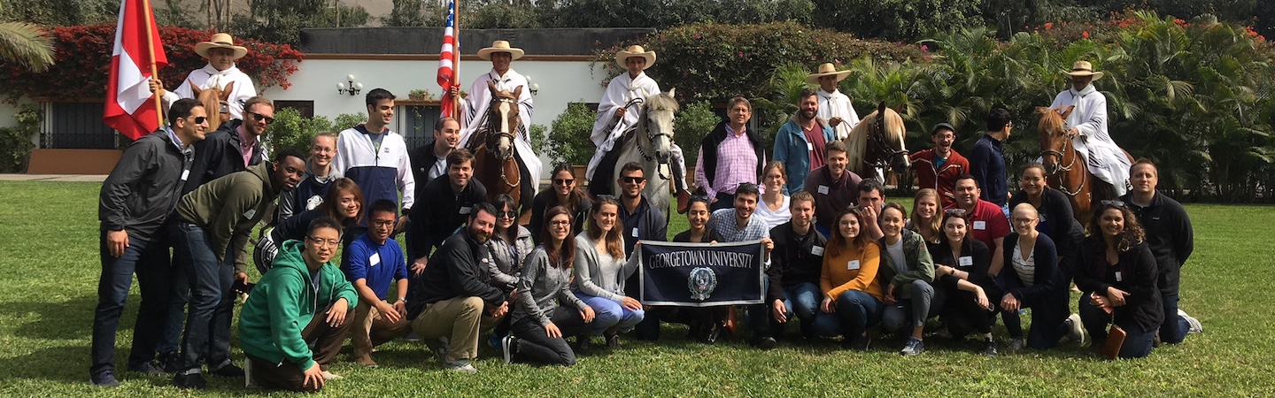 Students participating in the MBA Global Business Experience in Peru