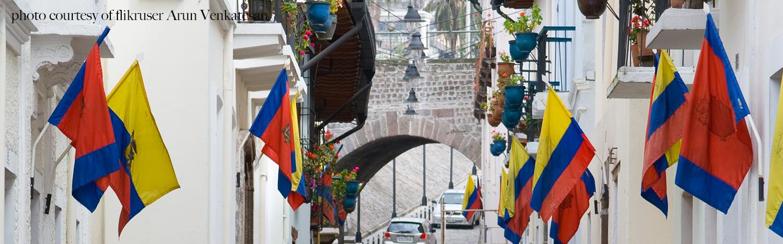 Photo of Ecuadorian flags