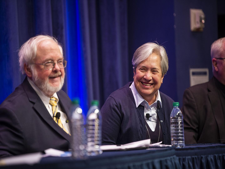 John Carr and Sr. Norma Pimentel