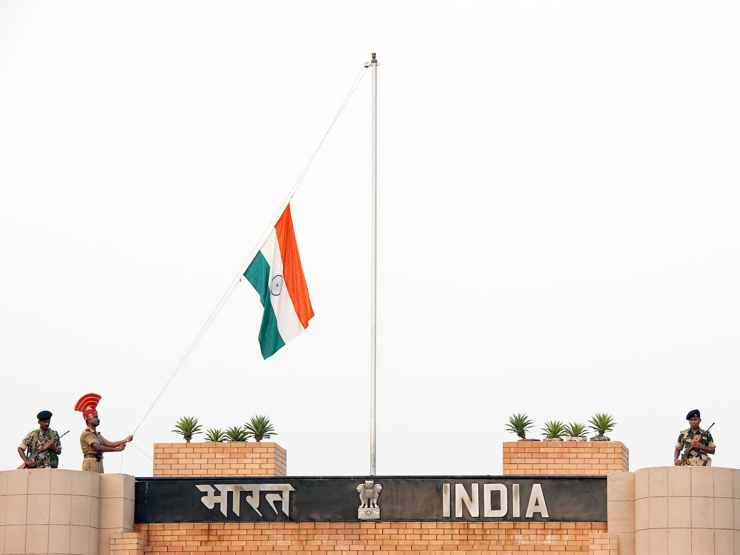 Flag raising of the Indian flag