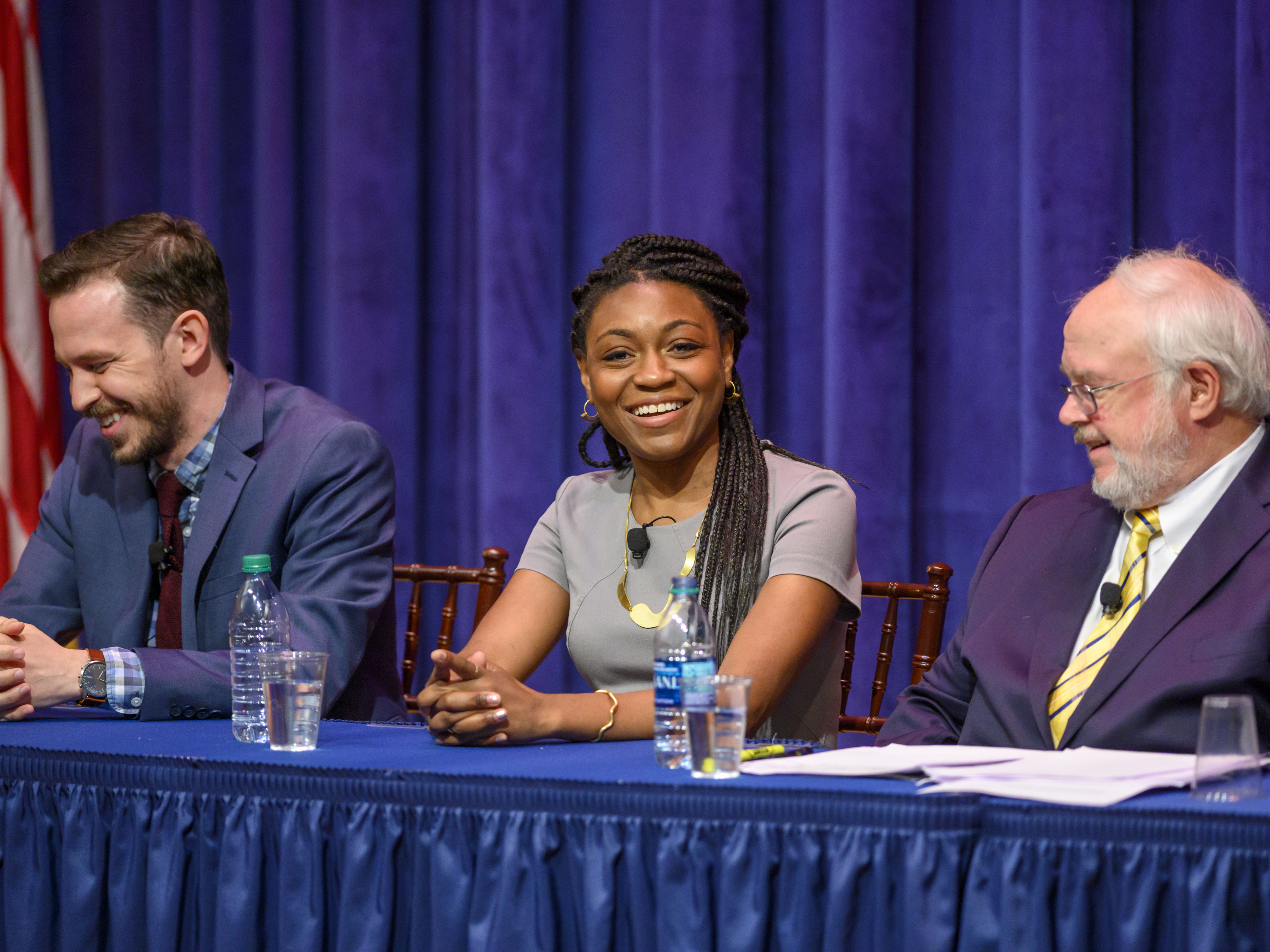 """Panelist Christine Emba at """"Faith and the Faithful in the 2020 Campaign"""" on May 22, 2019."""