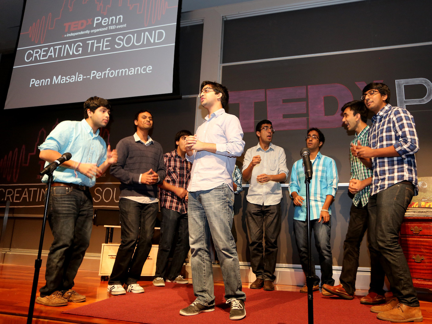 A capella group Penn Masala performs at TedX