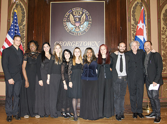 Soloists with Georgetown University Orchestra Director Angel Gil Ordoñez