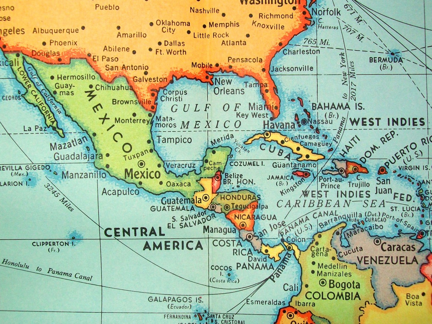 map of mexico and central america, flickr