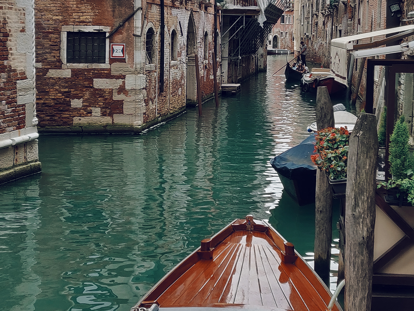 Gondola in Venice canal