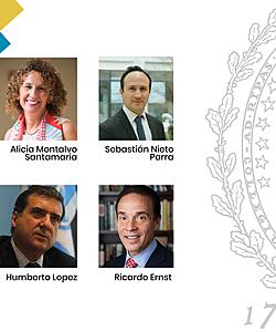 Panelists of the webinar Alicia Montalvo, Humberto Lopez, Sebastian Nieto and Ricardo Ernst