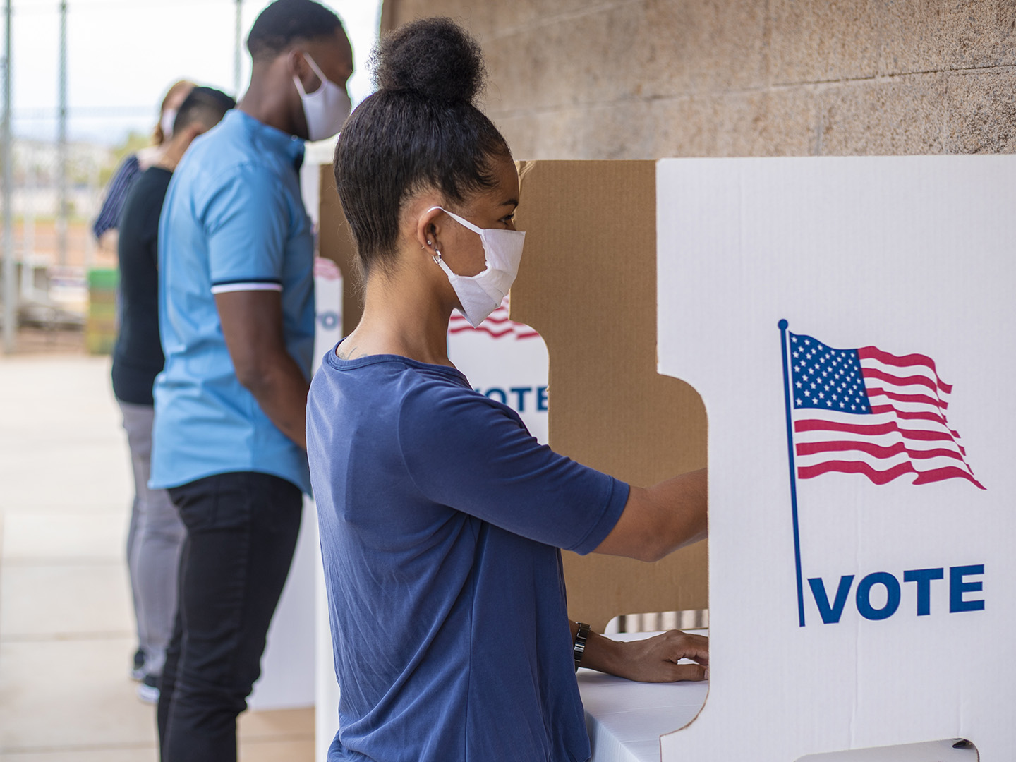 People voting in the United States