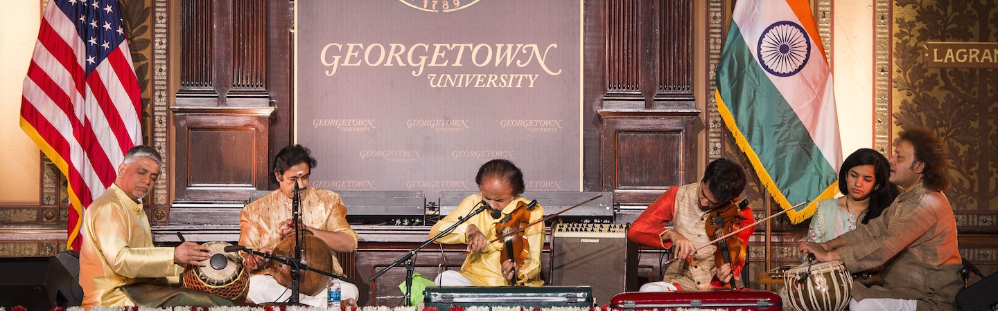 Dr. L. Subramaniam performing in Gaston Hall