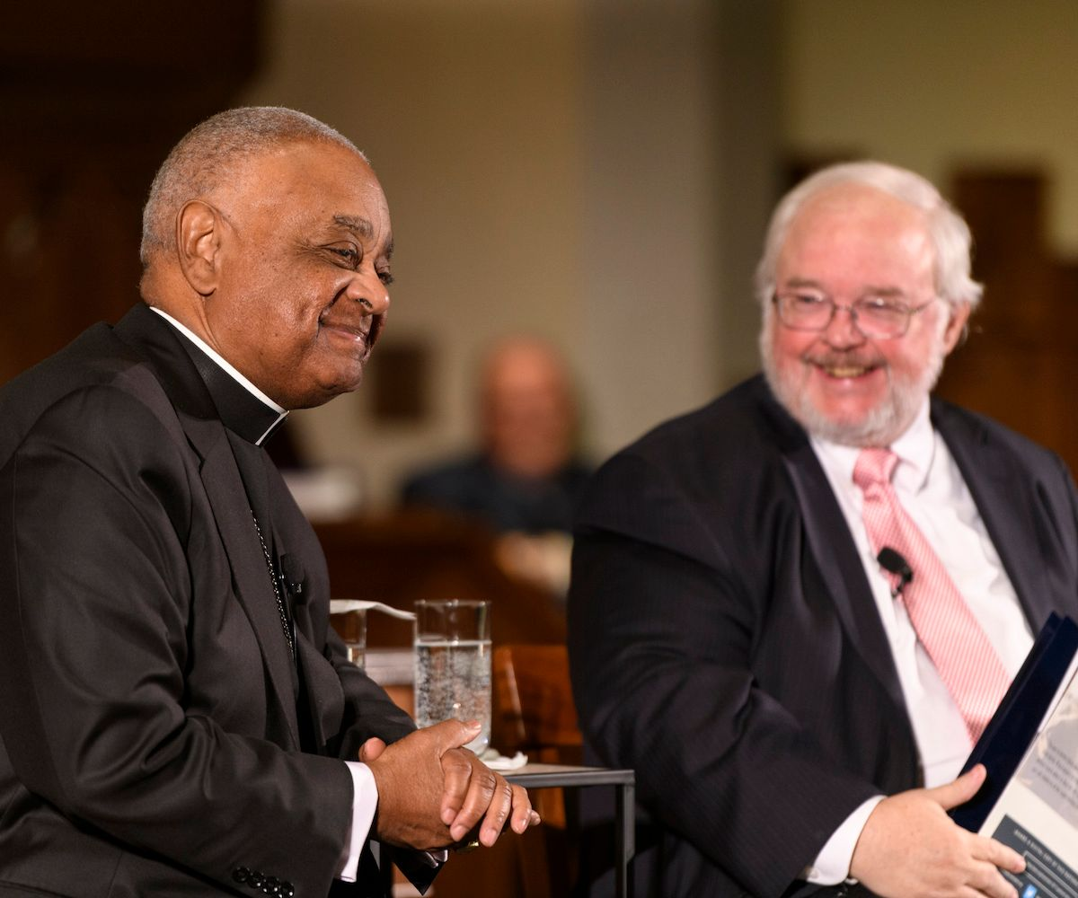 Archbishop Wilton Gregory and CST Director John Carr