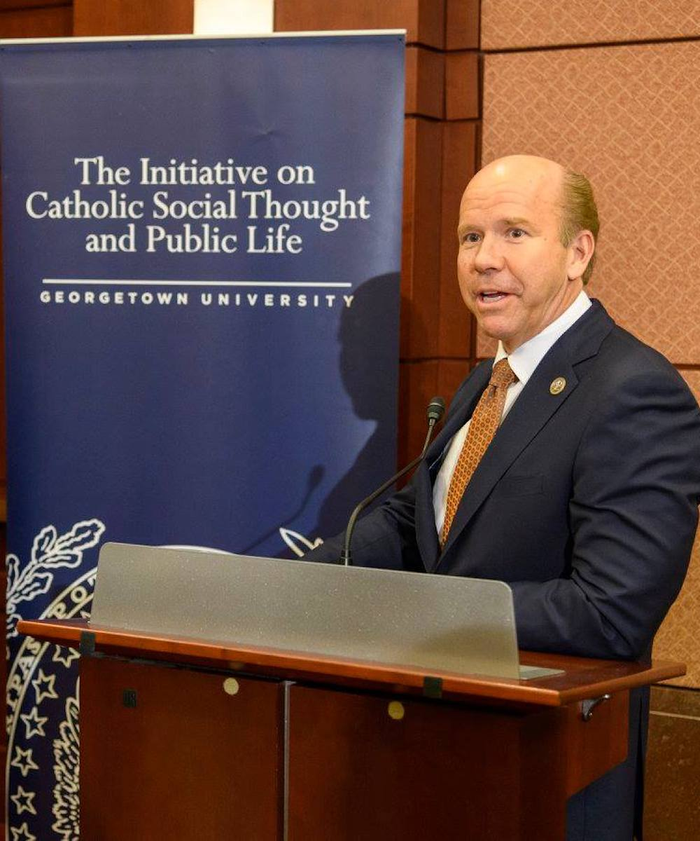 Rep. Delaney speaks to the Gathering about how faith creates a path to civility and reaching the common good.