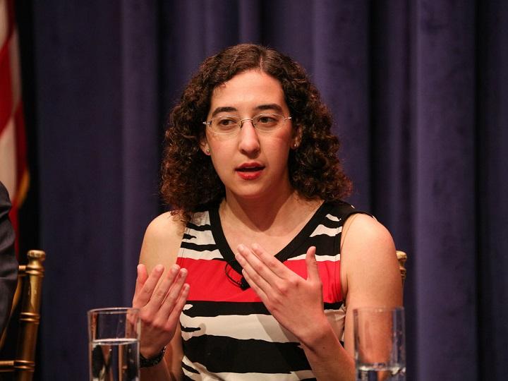 Julie Zauzmer discusses faith and politics during the Public Dialogue