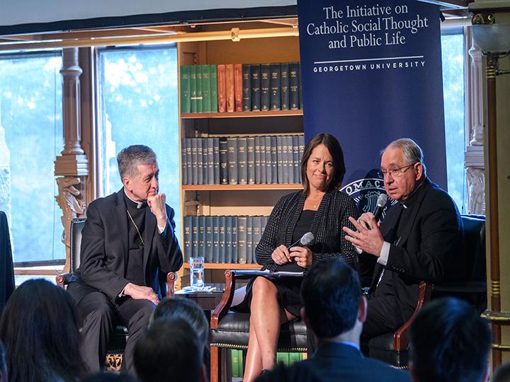 The Opening Keynote with Cardinal Cupich, Kim Daniels, and Archbishop Gómez.