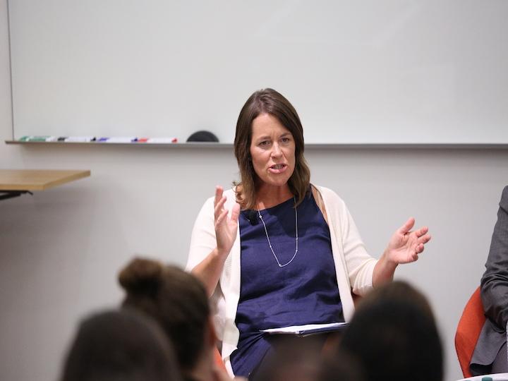 Associate Director Kim Daniels addresses the Salt and Light Gathering