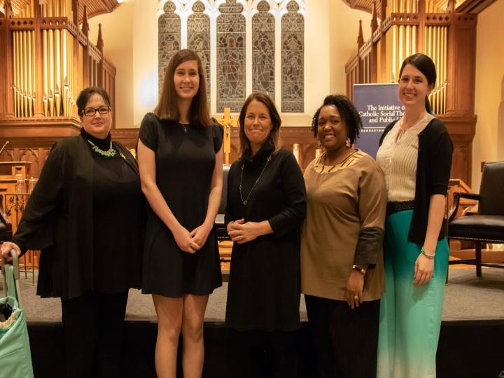 Serrin Foster, Julia Greenwood, Kim Daniels, Gloria Purvis, and Aimee Murphy in Dahlgren Chapel