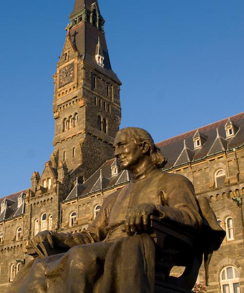 John Carroll campus statue