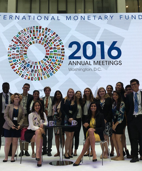 Georgetown Students Attend World Bank Annual Meeting