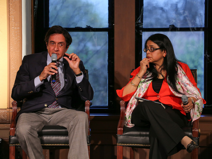 Anoop Singh and Bhavani Parameswar participate in a panel discussion